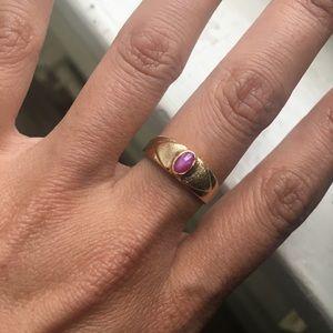 18 karat gold vintage ring!